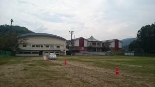 今週は日田市立中学校の管理作業を行いました
