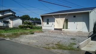 日田市上野町のS様邸の外構工事に着工しました